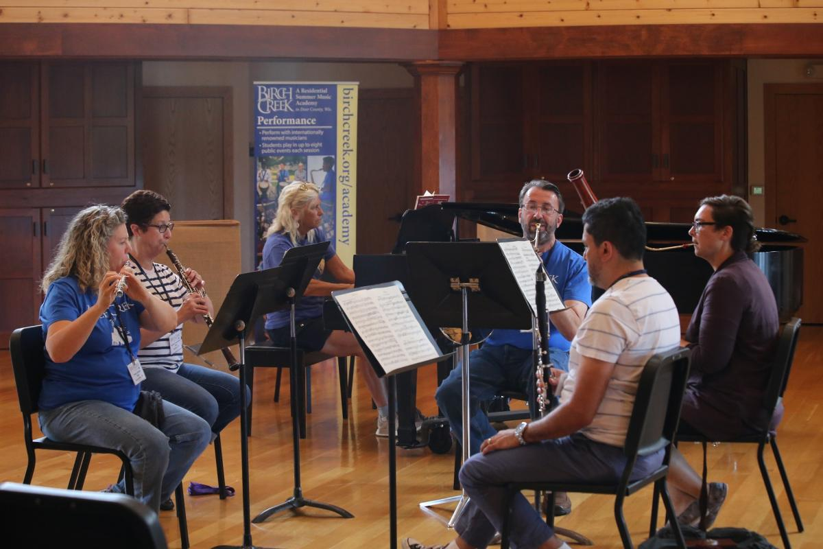 Wind chamber ensemble with piano