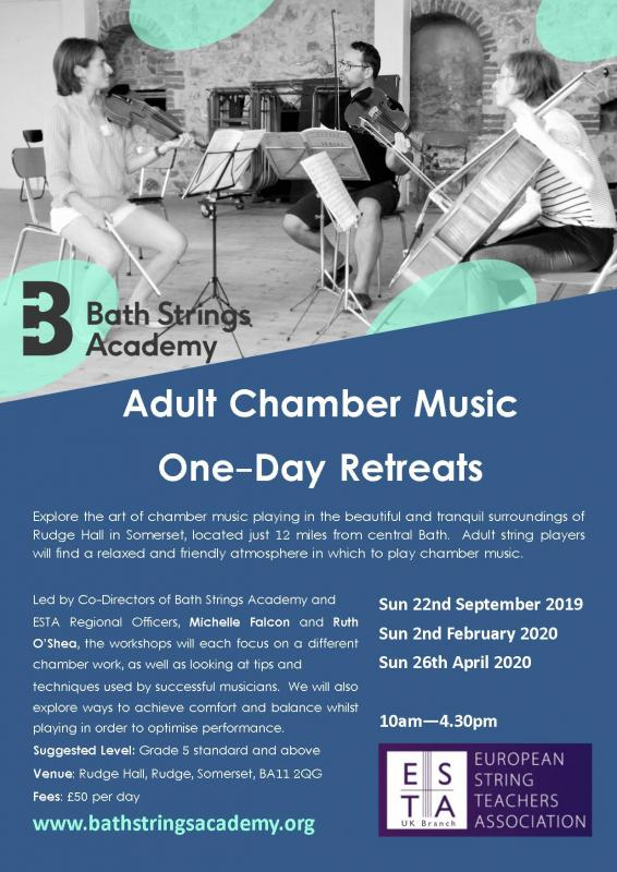 Adult Chamber Music One Day Retreats