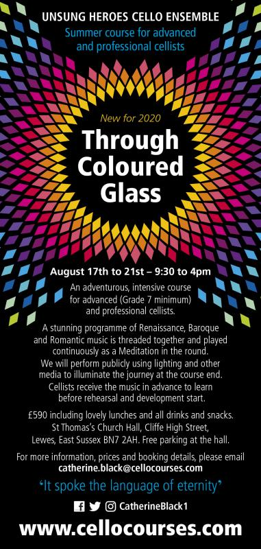 Through Coloured Glass - musical Meditation for cello ensemble