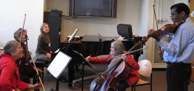 Boston Chamber Music Society annual chamber music workshop for mixed ensemble