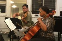 Chamber musicians at the the Alaria Chamber Ensemble workshop